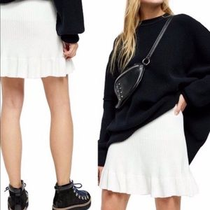 NWT Free People Ribbed Knit Skirt